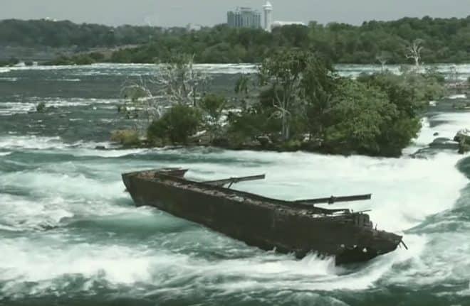 L'épave des chutes du Niagara en novembre 2019.