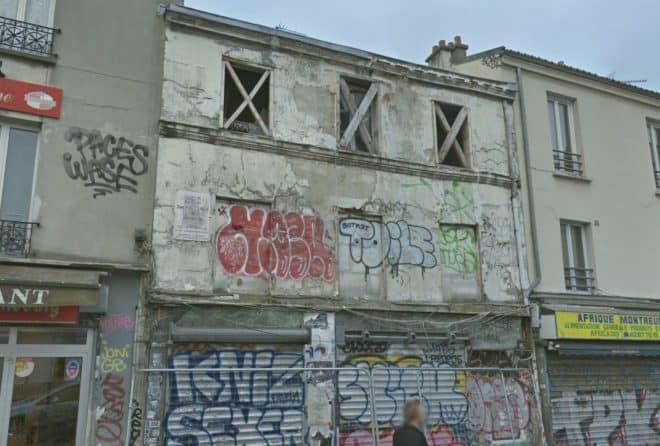 L'immeuble de Montreuil, rue de Paris, avant effondrement.