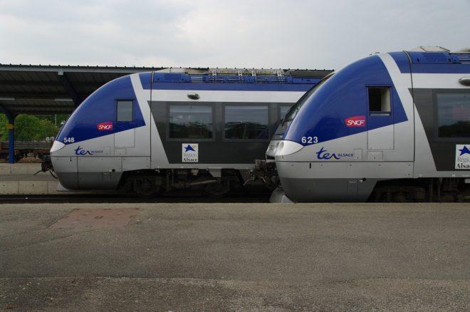 Photo d'illustration. Deux TER de la SNCF.