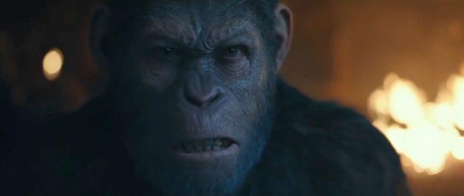 """César dans """"La Planète des singes : Suprématie""""."""