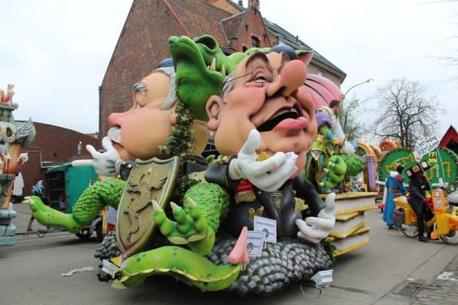 Illustration. Un char de carnaval à Alost, en Belgique.