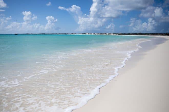 Une plage de l'île d'Anguilla, dans les Caraïbes.