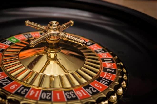 Illustration. La roulette d'un casino.