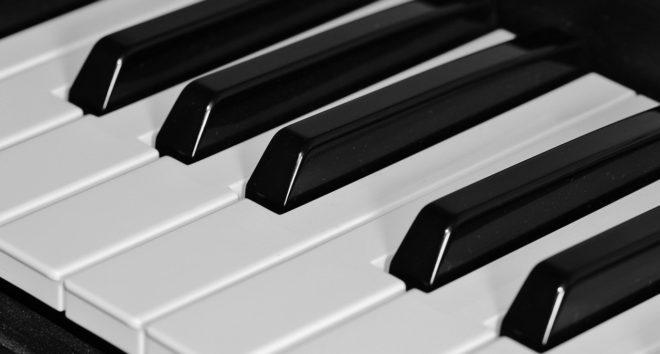 Les touches d'un piano. Image d'illustration.