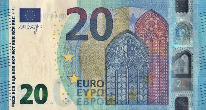 Un billet de 20 euros. Image d'illustration.