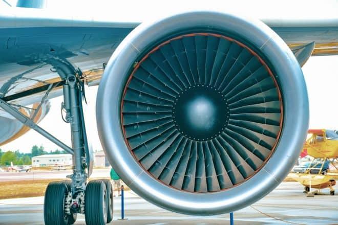 Photo d'illustration. Le moteur d'un avion.