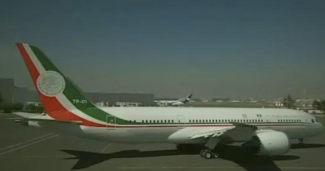 L'avion présidentiel mexicain.