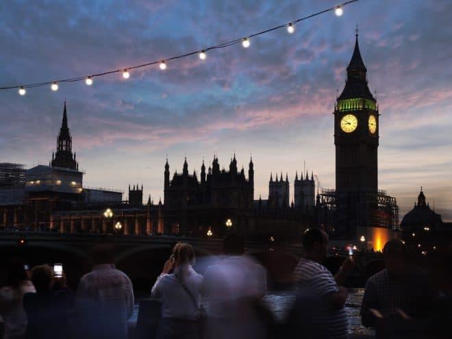 Big Ben de nuit, à Londres.