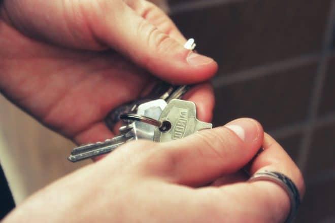 Illustration. Un trousseau de clés.