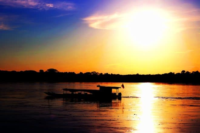 Photo d'illustration. Le fleuve Putumayo, dans le bassin de l'Amazonie.