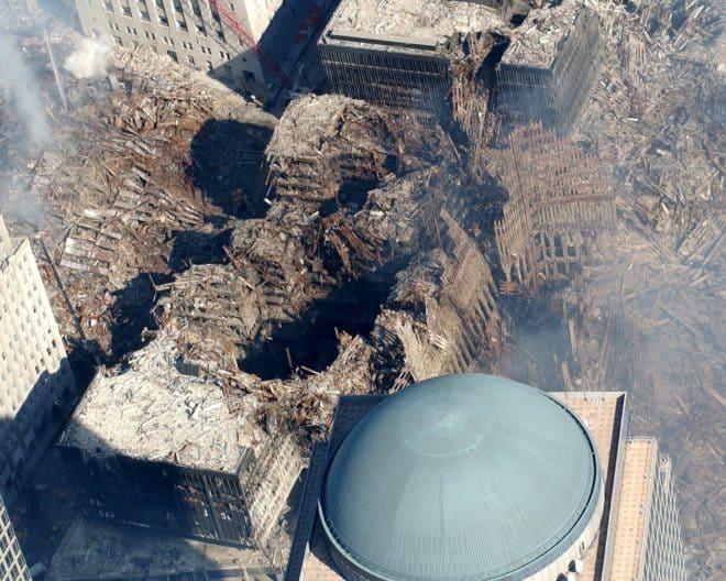 Groune Zero, site dévasté de l'attentat du 11 septembre 2001 à New York.