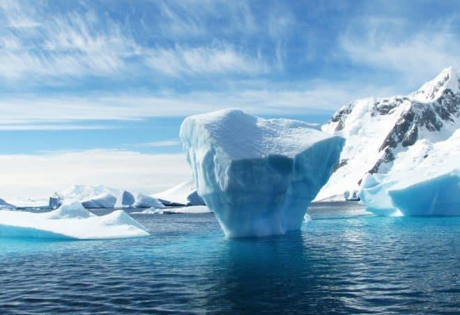 Illustration. Paysage d'Antarctique.