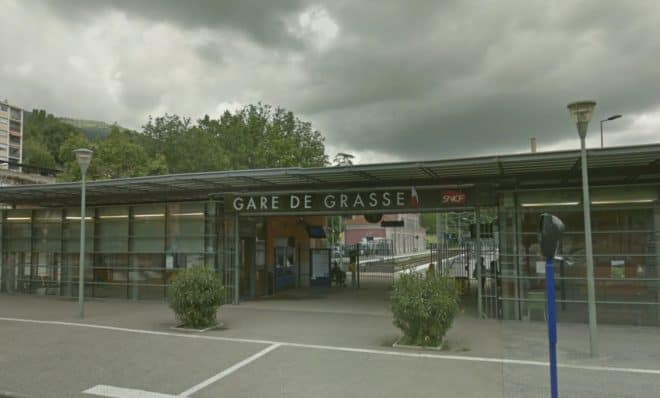 Illustration. La gare de Grasse (Alpes-Maritimes).