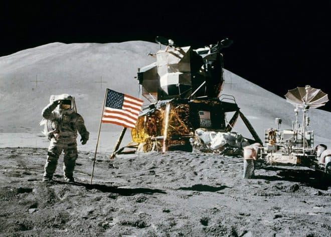 La mission lunaire Apollo 15 en juillet 1971.