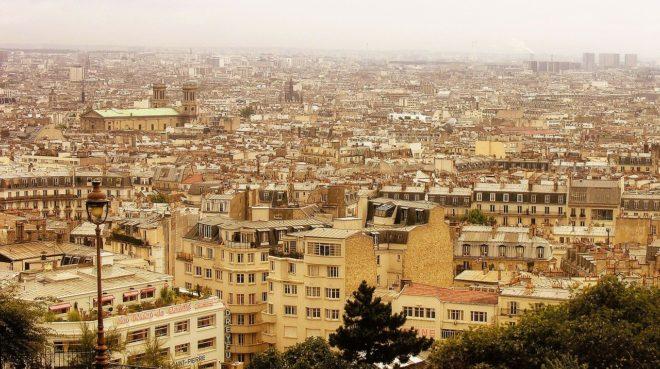 Illustration. Les toits de Paris.