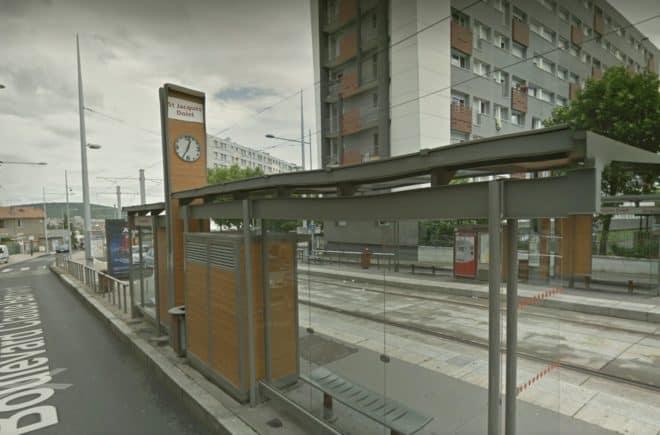 L'arrêt de tramway Dolet, à Clermont-Ferrand. Illustration.