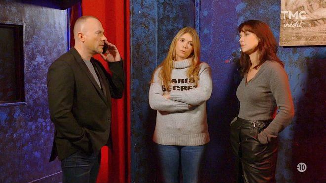 """Pascal, Hélène et Jeanne (Les Mystères de l'Amour saison 22, épisode 17 """"Fatales révélations"""")."""