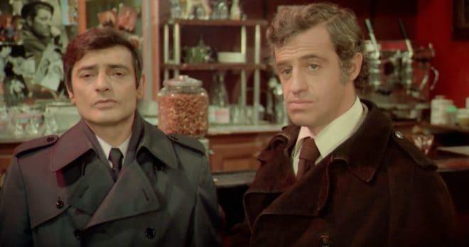 """Charles Denner et Jean-Paul Belmondo dans """"Peur sur la ville"""" (1975)."""