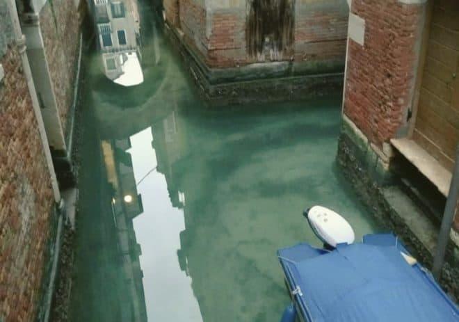 Les eaux de Venise en mars 2020.