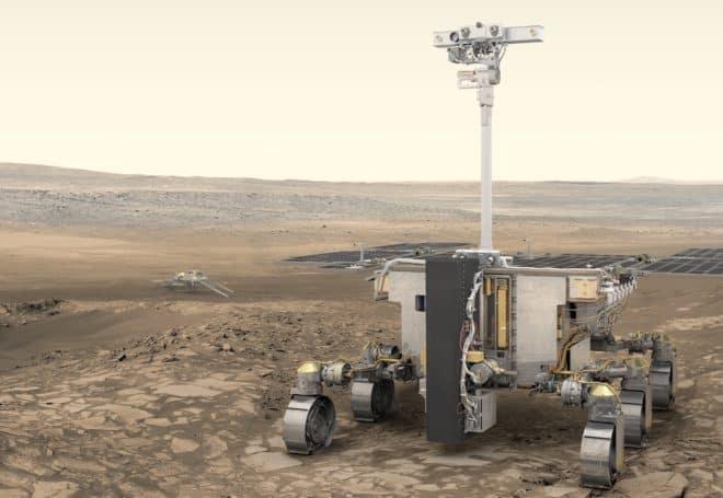 Vue d'artiste du rover de la mission ExoMars.