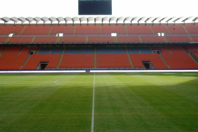 Illustration. Le stade San Siro à Milan.