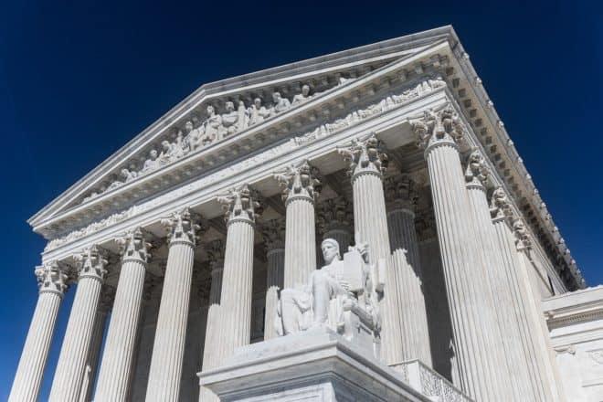 Illustration. La Cour Suprême à Washington.