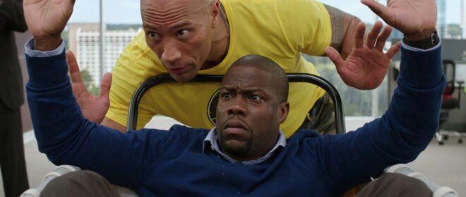 """Dwayne Johnson et Kevin Hart dans """"Agents presque secrets"""" (2016)."""