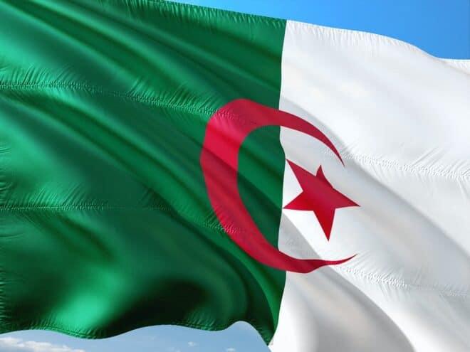 Le drapeau de l'Algérie. Image d'illustration.
