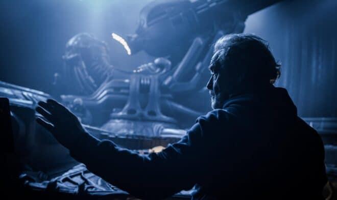 Ridley Scott sur le tournage de Alien Covenant
